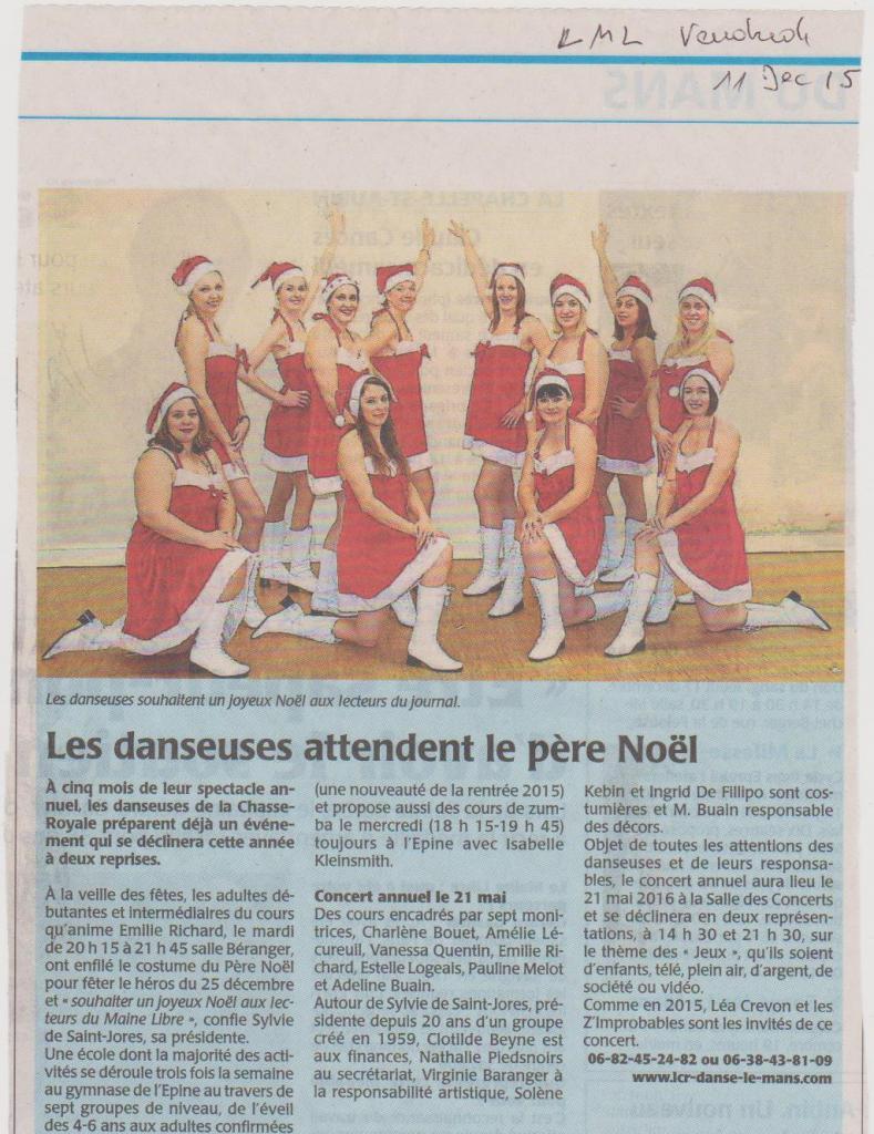 Article de journal - Décembre 2015